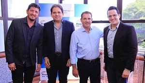 Empresários recebem o senador e o deputado federal eleitos por Goiás, Vanderlan Cardoso e Glaustin da Fokus